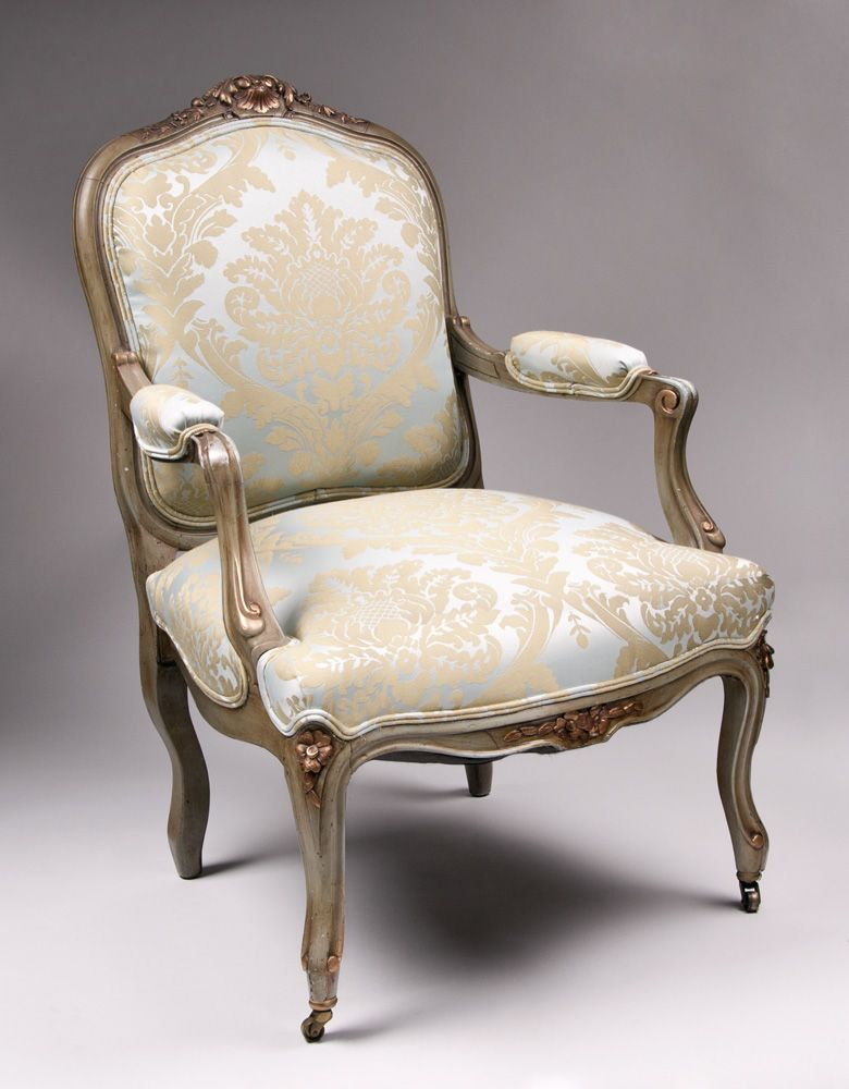 Pair of 19th c painted louis xv fauteuils a la reine or chairs from piatik on ruby lane - Louis th chairs ...