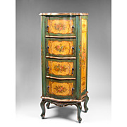 Venetian Lacca Povera Chiffonier or Tall Chest of Drawers