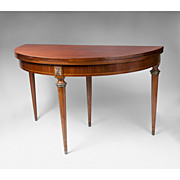 Edwardian Satinwood Hinged Breakfast Table Or Dining Table