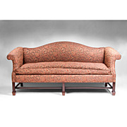 19th Century Camel Back Georgian Mahogany Sofa in The Chippendale Manner