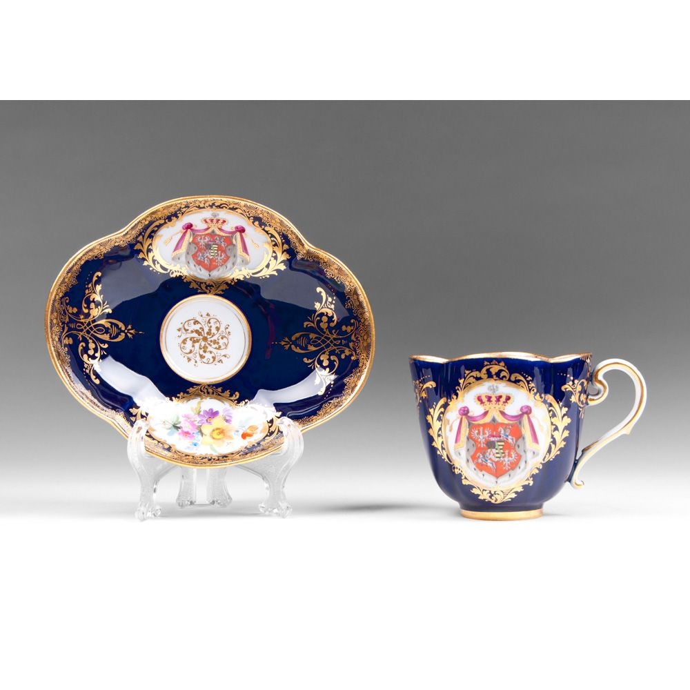 Meissen Cobalt Cup and Saucer
