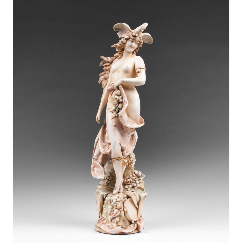 Turn Teplitz Bohemian Pottery Figure Of Enchantress