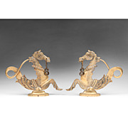 Pair of Bronze Venetian Gondola Cavallis or Sea Horses