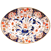 19th C. English Imari Ironstone Oval Platter