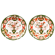 Pair of Ashworth Ironstone Masons Style Imari Pattern Plates