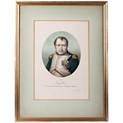 Early 19th C. Lithograph Of Napoleon by Langlum�