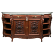 Late 19th C. Louis XV French Provincial Highly Carved Sideboard Buffet