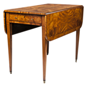 George III English Pembroke Satinwood Table, Circa 1800 � 1830