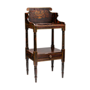 New England Sheraton Grain Painted Washstand, Circa 1830-50