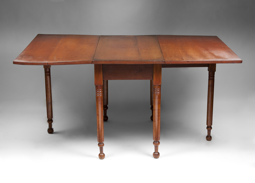 19th C American Cherry Drop Leaf Gate Leg Dining Table