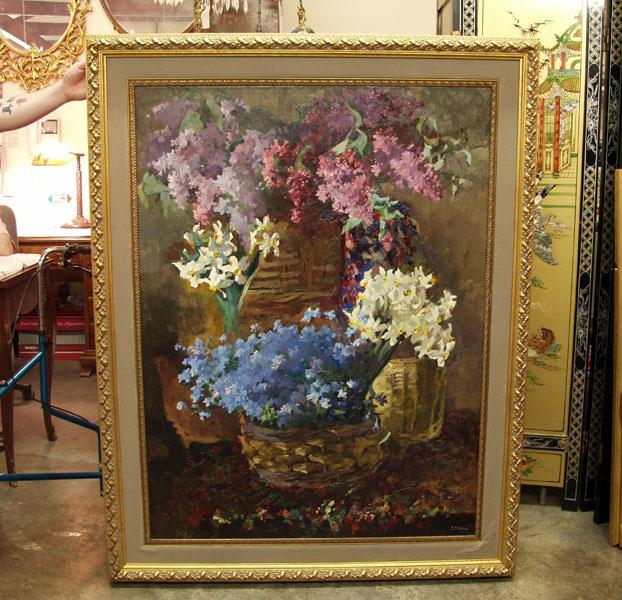 gorgeous impressionist oil painting on canvas by russian artist