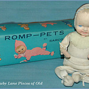 Romp-Pets Poseable Cloth Doll with mask face MINT in Original Box