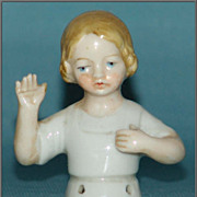 German Child Half Doll/Pincushion Doll Arms Away