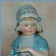 German Half Doll/Pincushion Doll Dutch Girl with Bonnet