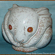 Pottery Rabbit Planter made for Neiman Marcus MIB 1970's