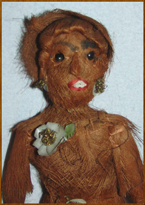 Seminole Indian Palm Husk Doll with Shell Nails