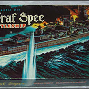 1958 Aurora Model Kit Admiral Graf Spee Battleship MIB