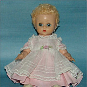 "Madame Alexander Little Genius 8"" Baby Doll in tagged outfit"
