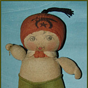 1920's Nelke Stockinette Doll Shriner's Souvenir