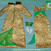 "Barbie Doll Outfit #1645 ""Golden Glory"" with HTF Purse  MINTY!"