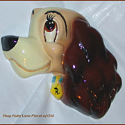 "Walt Disney's Lady from ""Lady and the Tramp"" Cuernavaca Pottery Wall Plaque"