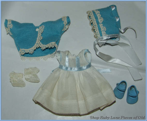 Vogue Ginnette Doll Outfit #6711 c.1956 MIB Blue & White