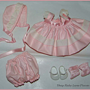Vogue Ginnette Doll Outfit #2332 Pink Cotton c.1958 MIB