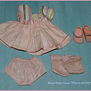 Vintage Vogue Ginny Pink Cotton Dress Outfit c.1956