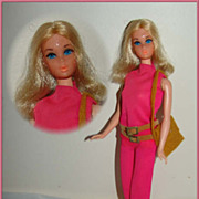 Walk Lively Barbie Doll c.1971 in Original Outfit - Beautiful!