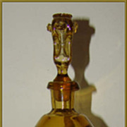Italian Art Glass Bottle, Hour Glass Shape