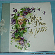 Precious Victorian Baby Memory Book, Unused, Beautiful Illustrations!
