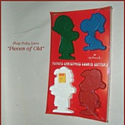 Hallmark Peanuts Christmas Cookie Cutters 4pc set MIP