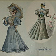 "Collection of Victorian Illustrated Fashion Magazines, ""Toilettes"" ""The French"