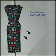 Barbie Doll #917 Apple Print Sheath Dress & Shoes c.1959