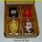 "Boxed Set of 4 ""Roving Eyes"" Novelty Shot Glasses"