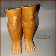 Lower Legs for a Large Antique Ball-joint Doll Body