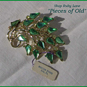 Vintage Kramer Rhinestone Pin Brooch, MINT with tag!