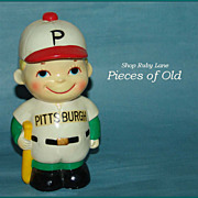 Vintage Pittsburgh Pirates Baseball Bat Boy Bank