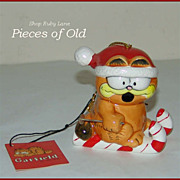 Enesco Garfield Skier Ceramic Christmas Ornament MINT with tag