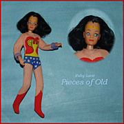 "Mego 8"" Action Figure Wonder Woman - Beautiful Face & Hair!"