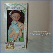 SOLD Horsman Ivy Cottage Violet Pickles Rag Doll MIB c.1990
