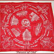 1940's Red Advertising Bandana for Lee Work Clothes