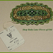 Gorgeous Large Flapper Dress Buckle Unused with tag