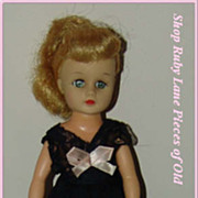 "Original Black Negligee & Shoes for Mary Hoyer 10�"" Vicky Doll MINT"