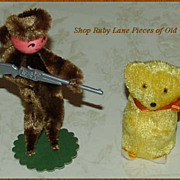 Chenille Davy Crockett Doll & Teddy Bear 24pc Boxed Set of Cake Decorations