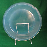 REDUCED Fry Opalescent Oven Glass Pie Plate, ca. 1916-1919.