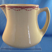 "REDUCED Shenango Inca Ware 4"" Pitcher Restaurant Ware -circa 1940's"
