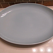 REDUCED Russel Wright Iroqouis Casual Oval Platter - Ice Blue