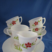 REDUCED MacBeth-Evans Florette Petalware, 14pc Luncheon Set