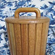 Wood Slatted Ice Bucket
